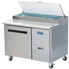 Arctic Air APP48R Single Door 6 Pan 12 Cu Ft Pizza Prep Table