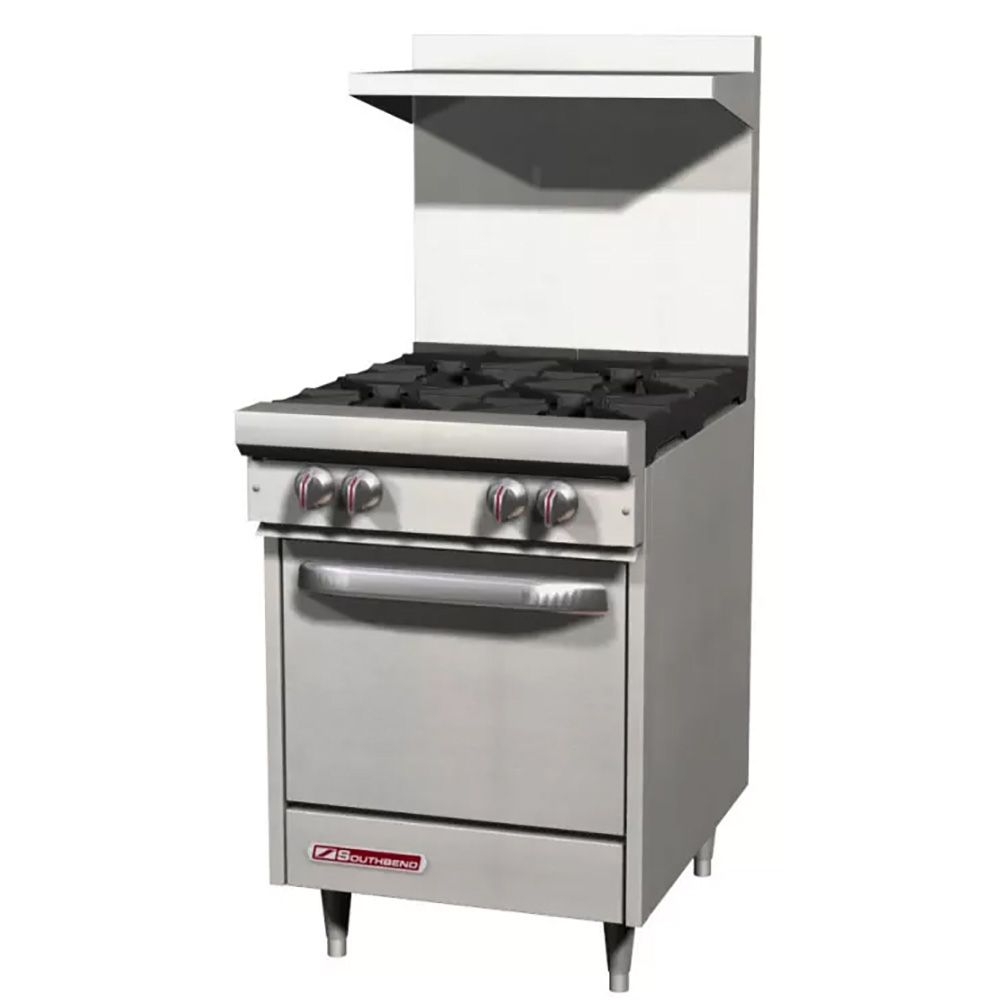 Southbend S24E 4 Burner Range with Space Saver Oven