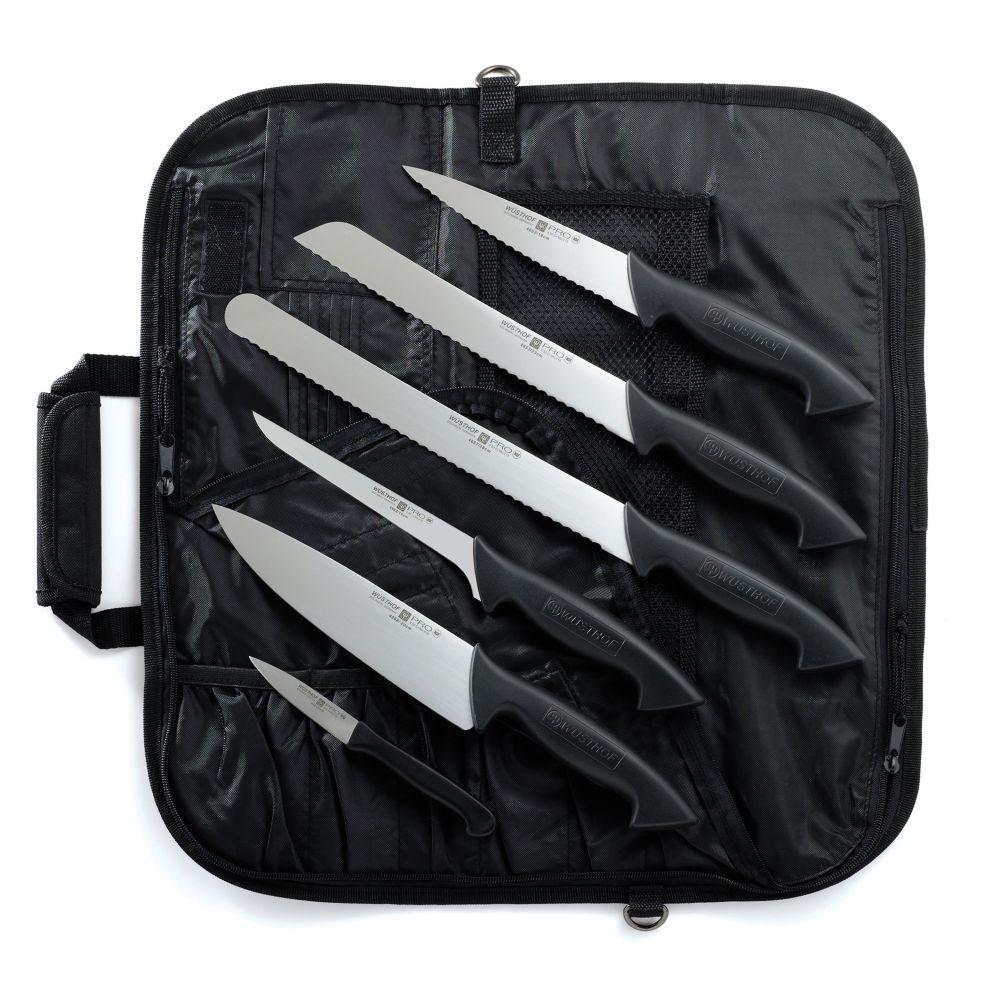 Wusthof 7707 7 Pro Series Carbon Steel 7 Piece Knife Set Wasserstrom