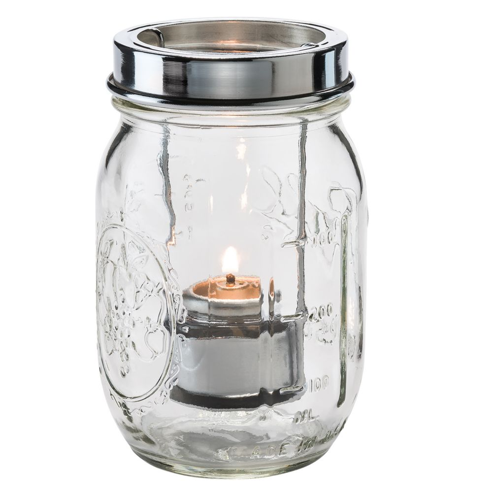 Hollowick 1610C Clear Firefly Jar with Tealight Cradle