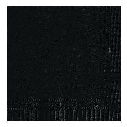 R.J. Schinner 501-016/C501-0 2-Ply Black Beverage Napkin - 3600 / CS