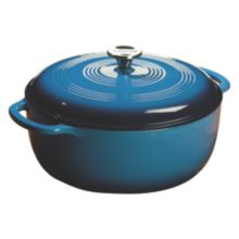 Lodge® EC7D33 Blue 7.5 Quart Cast Iron Dutch Oven with Lid