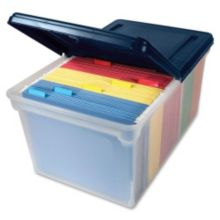 "Office City Express AVT55797 Plastic 24"" x 15"" x 11"" File Storage Box"