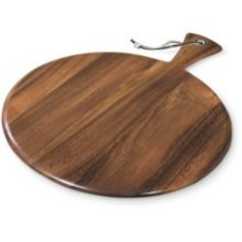 "Ironwood Gourmet 28116 Acacia Wood 12"" Thick Round Paddle Board"
