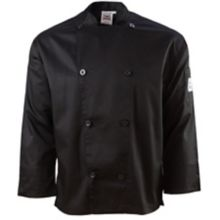 Chef Revival J200BK-S Performance Small Black Long Sleeve Chef Jacket