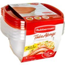 Rubbermaid® FG7F54RETCHIL TakeAlongs 4 Piece Container and Lid Set