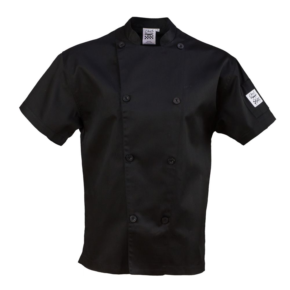 Chef Revival J205BK-M Performance Medium Short Sleeve Chef Jacket