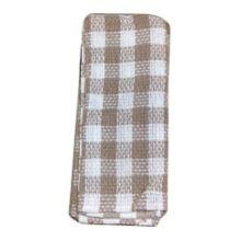 "John Ritzenthaler 101-00 16"" x 26"" Taupe/White Kitchen Towel - 2 / PK"