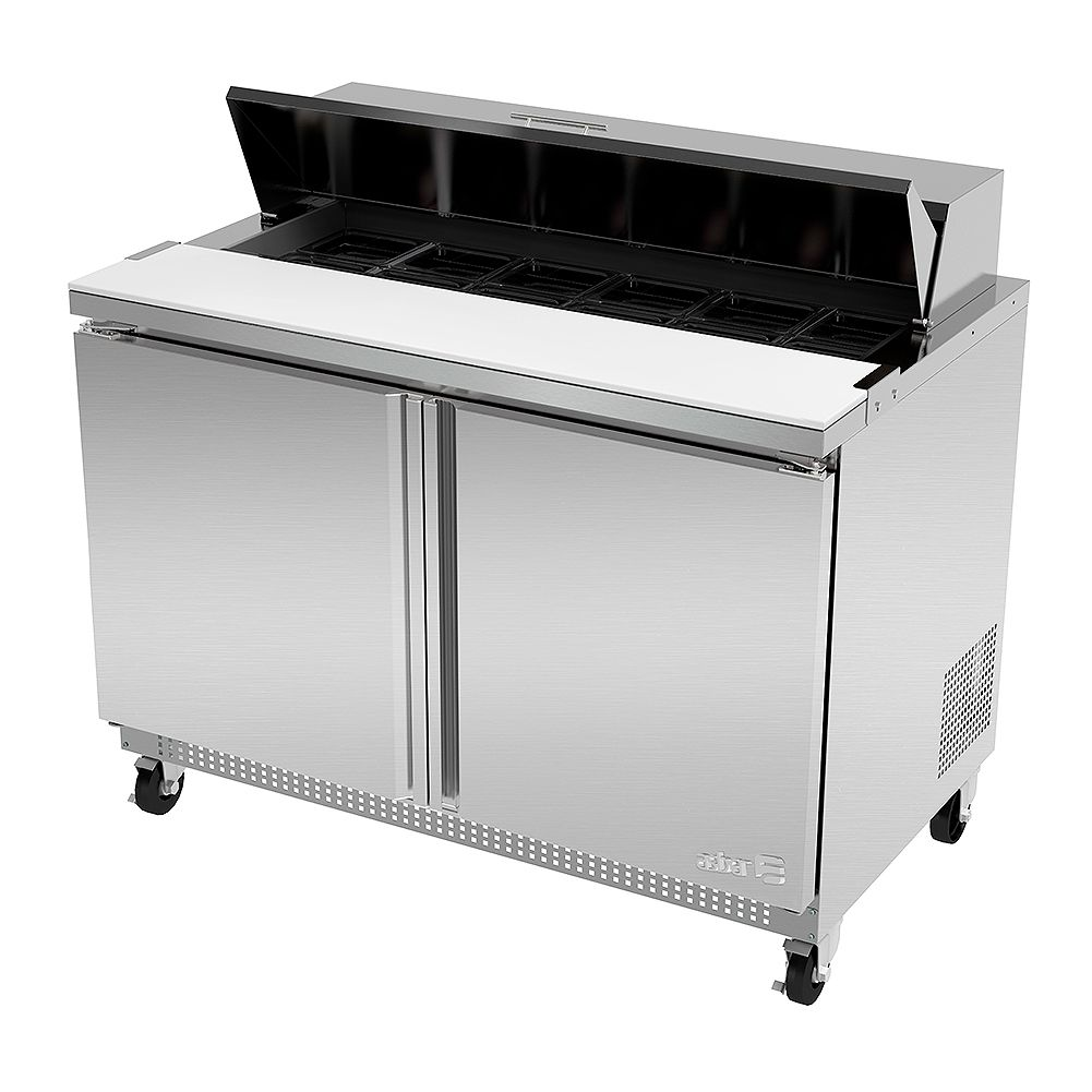 Darling Food Service Two Door 12 Pan Sandwich / Salad Prep Table