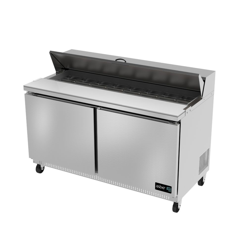 Darling Food Service Two Door 16 Pan Sandwich / Salad Prep Table