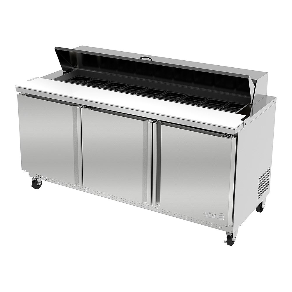 Darling Food Service Three Door 18 Pan Sandwich / Salad Prep Table
