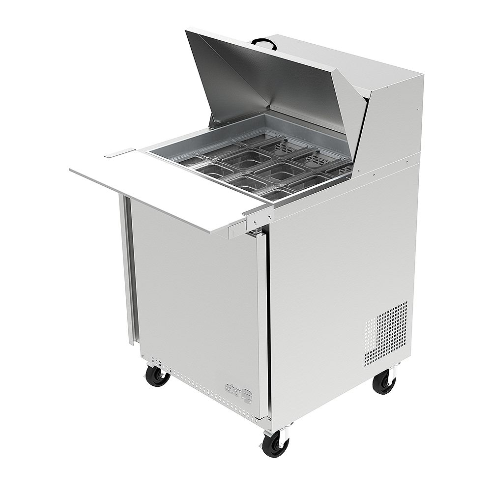 Darling Food Service 27 in. Wide One Door 12 Pan Mega Top Prep Table