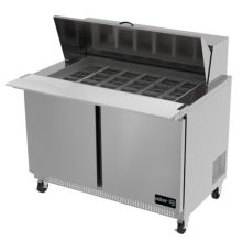 Asber APTM-48-18 Two Door 18 Pan Mega Top Sandwich / Salad Prep Table