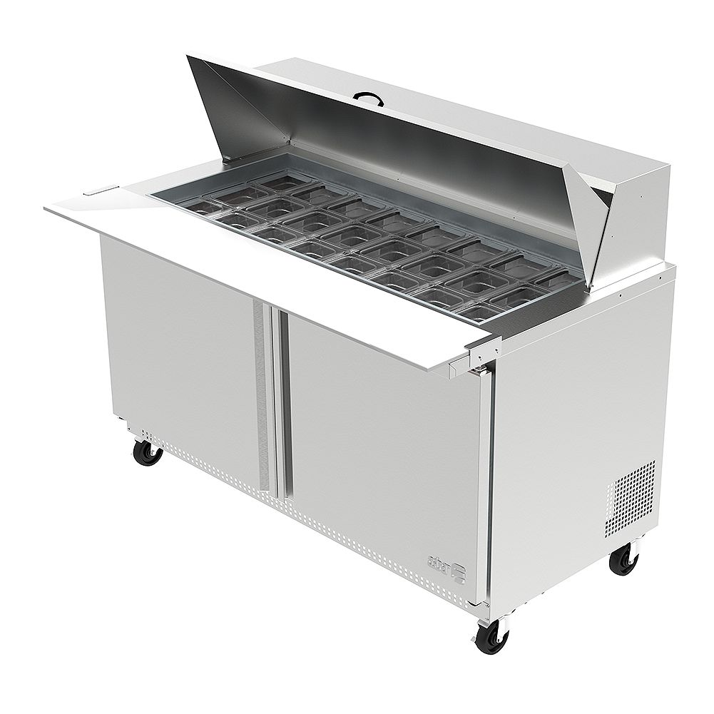 Darling Food Service Two Door 24 Pan Mega Top Sandwich Prep Table