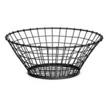 """TableCraft® GM15 Grand Master Black Metal 15"""" Round Basket"""