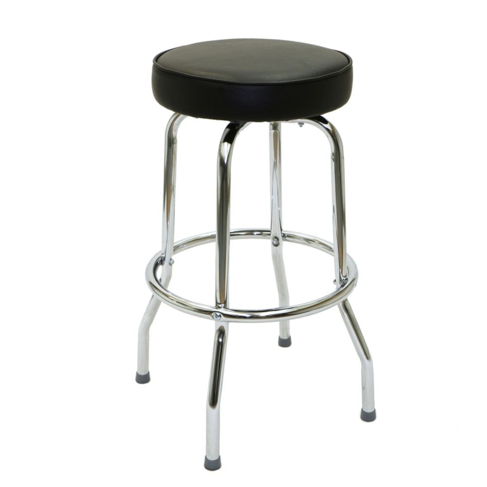 National Metalwares B1010 Black Single Foot Ring Bar Stool