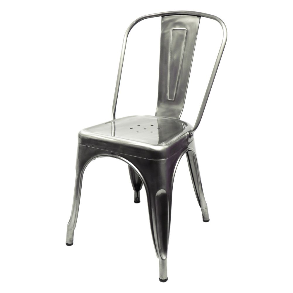 "National Metalwares 201604 Silver 14"" x 33"" Stamped Metal Chair"