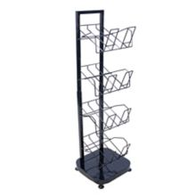 Mobile Merchandisers DN1600-B Adjustable Height 4-Shelf Display