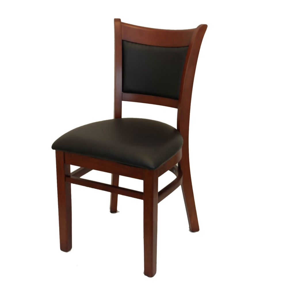 MKLD Commercial Furniture 6279M Wood Chair with Black Seat and Back