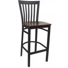 MKLD Commercial Furniture M839BS-W Vertical Back Bar Stool