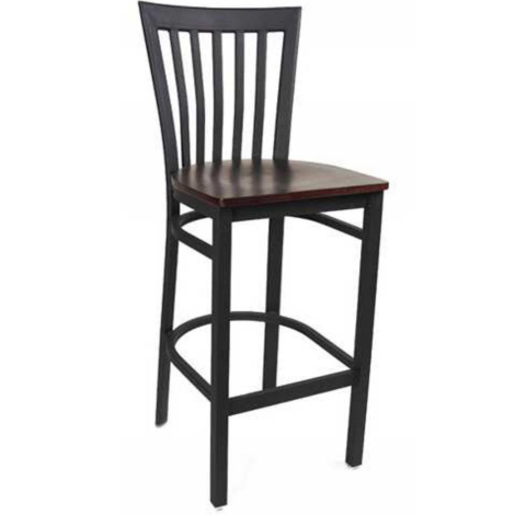 MKLD Commercial Furniture M839BS-W Vertical Back Bar Stool