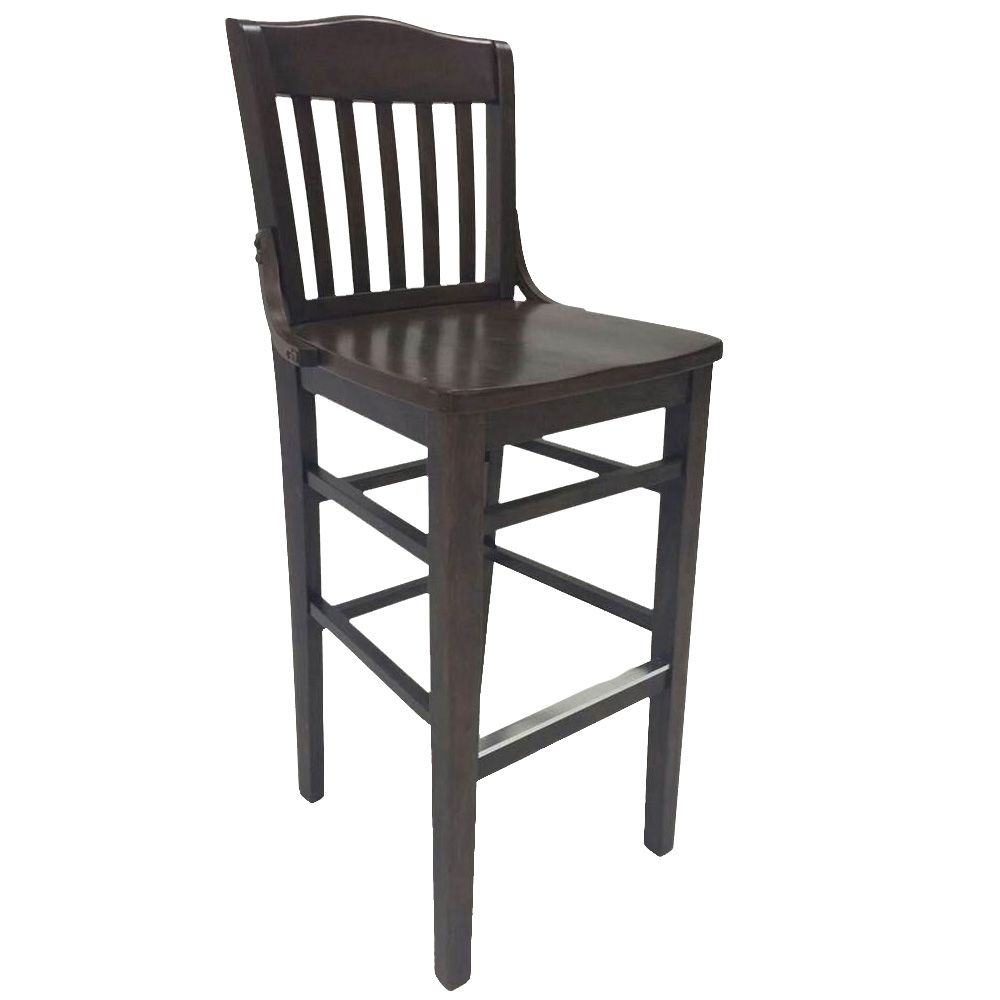 MKLD Commercial Furniture 6235BS-W Wood School House Bar Stool