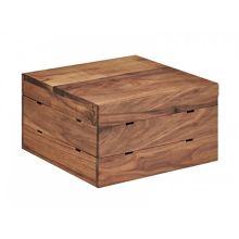 """Cal-Mil 3628-7-78 Walnut 12 x 12 x 7"""" Crate Riser"""