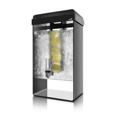 Rosseto LD156 Black 5 Gallon Infusion Beverage Dispenser