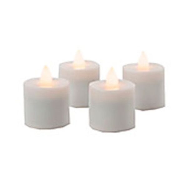 Sterno Products 60128 Warm White Rechargeable Tealights - 4 / CS