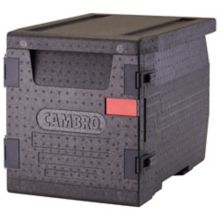 Cambro EPP300110 Black Front Loading Cam GoBox™ Catering Box