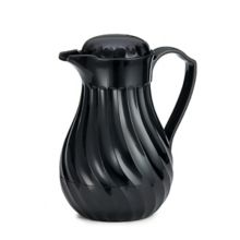 TableCraft Products 472 Black 20 Ounce Swirl Decanter
