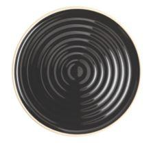 """Chef & Sommelier FK844 Geode Black 8-1/2"""" Salad / Dessert Plate - 12 / CS"""
