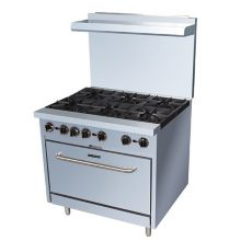 "Darling Food Service S/S 36"" 6-Burner Natural Gas Range"