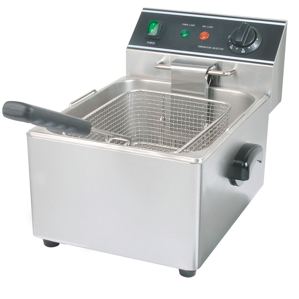 Darling Food Service S/S Electric Single Pot 15 Lb Countertop Fryer