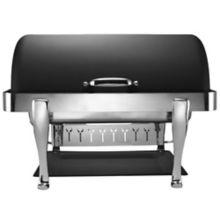 Bon Chef 19040CH-NERO Elite S/S 2 Gallon Rectangular Chafer with Feet