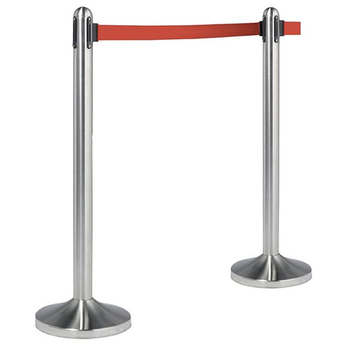 "American Metalcraft RSRTRD Stainless Steel 40"" Post And Base Set"