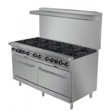 "Darling Food Service 10 Burner 60"" Range with 2 Ovens"