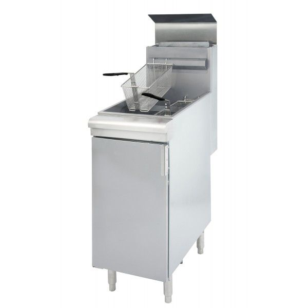 Darling Food Service S/S 35-40 Pound LPG Deep Floor Fryer
