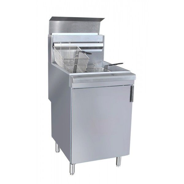 Darling Food Service S/S 65-70 Pound LPG Deep Floor Fryer