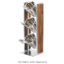 Cal-Mil 3715-49 Chrome 3-Section Silverware / Condiment Holder