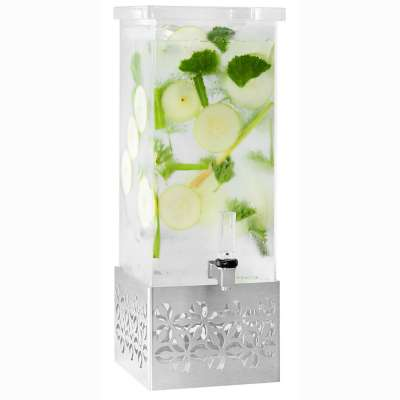 Rosseto LD161 Iris™ Acrylic 2 Gallon Beverage Dispenser