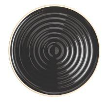 """Chef & Sommelier FK845 Geode Black 6"""" B&B Plate - 12 / CS"""