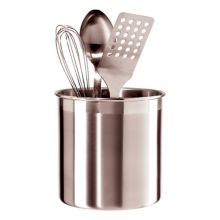 "Oggi 7211 Stainless Steel 7"" D x 7"" H Jumbo Utensil Holder"