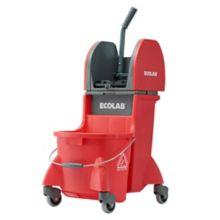 Ecolab 61702-03-31 DuraLoc Red Dual Cavity Mop Bucket