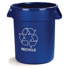 Carlisle 341032REC14 Blue 32 Gallon Recycle Container