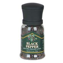 Chef Specialties 90501 Mini Disposable Black Pepper Grinder - 12 / CS