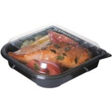 Eco Products EP-PTOR7 Black 18 Oz Take-Out Container w/ Lid - 150 / CS