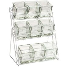 Cal-Mil 1812-39 Iron 9 Platinum Glass Jar Display