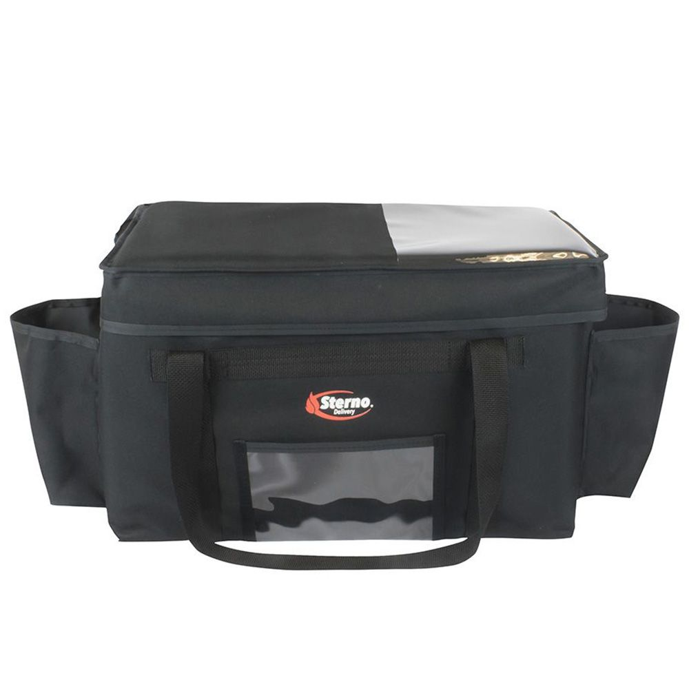 Sterno Products 70530 Black 13 x 22 x 14 Deluxe Insulated Food Carrier