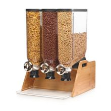 Rosseto DS102 Pro-Bulk Triple Tabletop Dispenser with Bamboo Stand